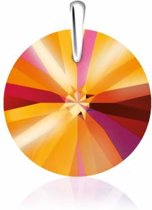 SH45 Bibiza Collier met Swarovski hanger Rond Crystal Astral Pink, speciaal voor kinderen.