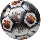 Fc Barcelona Mini Voetbal Handtekeningen Zilver Maat 2