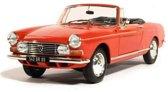 Peugeot 404 Cabriolet 1967 1:18 Norev Rood 184779