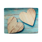 placemat harten blauw (set van 4)