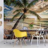 Fotobehang Tropical Beach Sunset   VEA - 206cm x 275cm   130gr/m2 Vlies