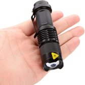 Zaklamp Mini CREE LED 450LM Zwart Waterproof