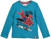 Spiderman shirt maat 122/128 Turquoise