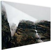 Bergen in de mist  Nepal Glas 30x20 cm - klein - Foto print op Glas (Plexiglas wanddecoratie)