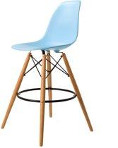 Design barkruk DD DSW barkruk mat PP lichtblauw kuipstoel