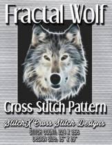 Fractal Wolf Cross Stitch Pattern