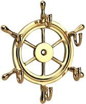Sleutelrek kapstokje stuurwiel thema nautical maritiem