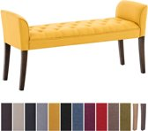 Clp Cleopatra - Chaise longue - Stof - geel antiek donker