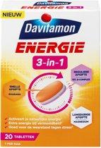 Davitamon Energie 3-in-1 Multivitaminen Voedingsupplement - 20 tabletten