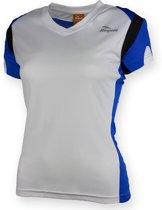 Eabel T-shirt dames - Wit/Blauw  - Rogelli - Wit