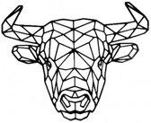 FBRK. Bull 95 x 80 cm Goud Metallic- Geometrische dieren -Wanddecoratie