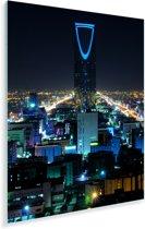 Kleuren in de avond in Riyad Plexiglas 120x160 cm - Foto print op Glas (Plexiglas wanddecoratie) XXL / Groot formaat!