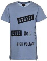 Kids Up jongens t-shirt lang met rits MERVE 04