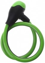 Zwart/groen kabelslot 12 mm