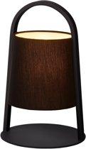 Lucide DIXI - Tafellamp - Ø 20 cm - Zwart