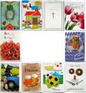 Verjaardagskaarten en Assortie Wenskaarten - Set van 10
