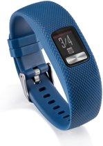 Siliconen Horloge Band Voor Garmin Vivofit 4 - Armband / Polsband / Strap Bandje / Sportband - Blauw