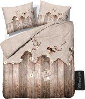 Dreamhouse Bedding Janine - Dekbedovertrekset - Lits-Jumeaux - 240x200/220 + 2 kussenslopen 60x70 - Taupe