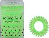 Rolling Hills 5 traceless hair elastics transparent green