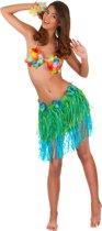 Hawaïaanse rok in groen met blauw voor volwassenen - Volwassenen kostuums