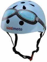 Kiddimoto - Blauwe bril - Small - Geschikt voor 2-6jarige of hoofdomtrek van 48 tot 52 cm - Skatehelm - Fietshelm - Kinderhelm - Stoere helm - Jongens helm