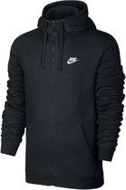 Nike Sportswear Club Hoodie FZ BB Sporttrui Heren - Black/Black/White