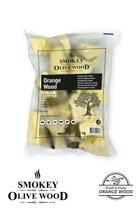 Smokey Olive Wood - Chunks - 5 kg Sinaasappel - hout voor de barbecue en smoker - grote brokken/chunks ø 5-10cm
