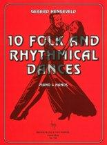 10 Folk and Rhythmical Dances (Piano 4 Hands)