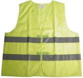 Super Reflecterend Geel Veiligheidsvest  One Size | Fluorescerend | Veiligheids Vest | Veiligheidshesje | Wegwerkersvest | Werkkleding | Hesje voor Klussen | Veiligheid | Pech | BHV | Fluor | Werkkleding en Bescherming