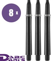 ABC Darts Shafts - Kunststof Zwart - Medium - 8 sets