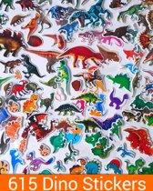 615 Dinosaurus Stickers   45x Dino Stickervellen   BeloningsStickers Kinderen   MEGA SET Dinosaurussen 3D Foam Stickers   King Mungo KMST014