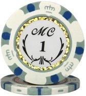 Pokerchip MC 13,5 Gram Clay Grijs 1