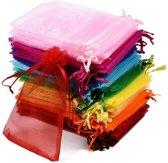 Organza geschenkzakjes | Uitdeelzakjes | Cadeau Zakjes | 10 x 15 cm | 100 stuks | Pride Kings®