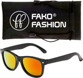 Fako Fashion® - Kinder Zonnebril - Wayfarer - Spiegel Rood
