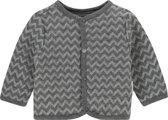 Noppies Unisex Vestje zig zag Quanzhou - Grey Melange - Maat 50
