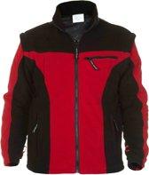 Hydrowear Fleecevest - Keulen Zwart/rood Mt L