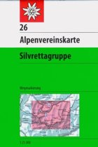 DAV Alpenvereinskarte 26 Silvrettagruppe 1 : 25 000 Wegmarkierungen