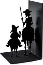 Balvi boekensteun Don Quijote zwart metaal