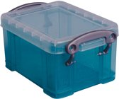 25x Really Useful Box 0,3 liter visitekaarthouder, transparant groen
