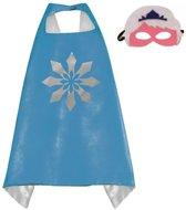 Sneeuwvlok Blauw - Superhelden Kostuum cape voor kinderen 3 tot 10 jaar - Frozen