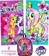 My Little Pony strandlaken kinderen 70x140 | set 2 stuks + rugzak | set badhanddoeken | BS12