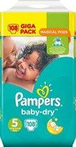 Pampers - Baby Dry Luiers - Maat 5 - 11 tot 16 Kg - 108 Stuks