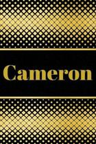 Cameron: Personalized Journal to write in Positive Thoughts, Work Ideas, Business for Men, Entrepreneurs gifts holidays