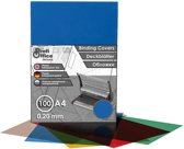 schutbladen ProfiOffice A4 200 micron 100 stuks transparant blauw