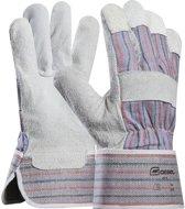 Professionele leren werkhandschoenen Gebol - Leer - leren - Maat 10,5 - Katoen - Katoenen -  Splitleer - Handschoen - Rundleer