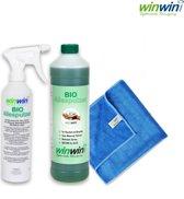 winwinCLEAN Allesputzer 1000ML + Badjuweel + Sproeiflacon, Alleskunner, Allesreiniger 100% biologisch afbreekbaar
