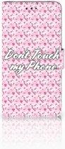 Nokia 3.1 Plus Uniek Boekhoesje Flowers Pink DTMP