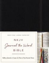 NKJV, Journal the Word Bible, Hardcover, Black, Red Letter Edition