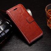 Cyclone Bruin wallet case hoesje iPhone 7