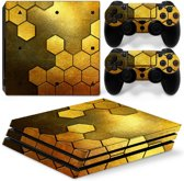 Steel Gold - PS4 Pro Console Skins PlayStation Stickers